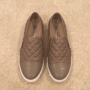 Grey Steve Madden slip on shoes